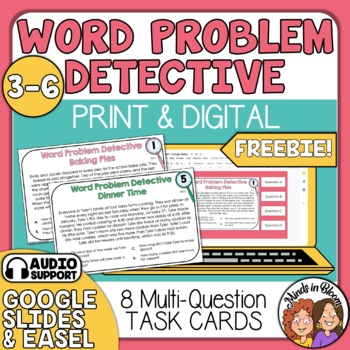 Word Problem Detective by Rachel Lynette | Teachers Pay Teachers