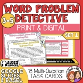 Word Problem Detective Task Cards: Beginner Set