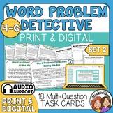 Word Problem Detective Task Cards: Advanced (Multi-Step)