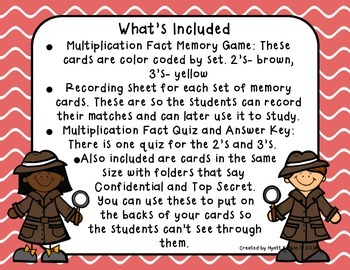 Math Detectives: Multiplication Memory 4's and 5's