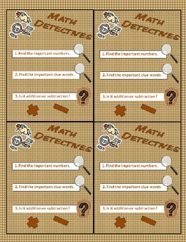 Math Detectives: Story Problems