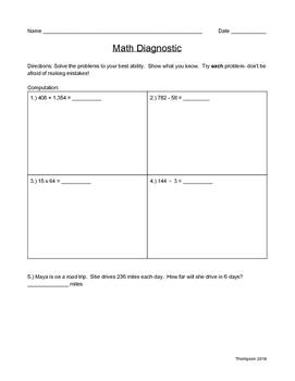 Math Diagnostic