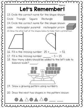 Math Diagnostic: Grade 3 Ontario Beginning of the Year Math Assessment
