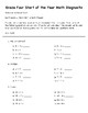 Math Diagnostic/Review - Grade Three to Grade Four Transition