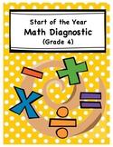 Math Diagnostic/Review - Grade Three to Grade Four Transition