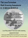 Math Diagnostic Screening Assessment - K-5 MEGA BUNDLE