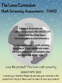 Math Diagnostic Screening Assessment - Third Grade
