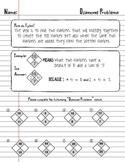 Factoring Trinomials using Math Diamond Problems - Worksheet Algebra