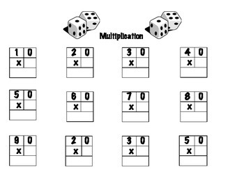Math Dice Activities