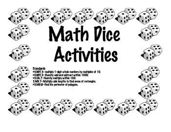 Math Dice Activities