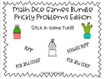 Math Dice Games Editable Bundle - Prickly Problems Edition -
