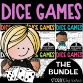 Math Dice Games Bundle   Printable and Digital