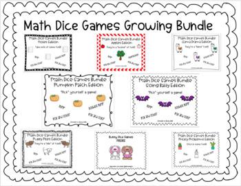 Math Dice Games GROWING Bundle