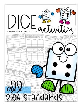 Dice Activity Book {2.OA.1, 2.OA.2, 2.OA3, 2.OA.4}