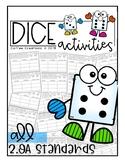 Dice Activity Book {2.OA.1, 2.OA.2, 2.OA3, 2.OA.4}
