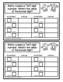 Math Dice Activity Book - 2.NBT.1, 2.NBT.2, 2.NBT.3, 2.NBT.4, 2.NBT.5, & More!
