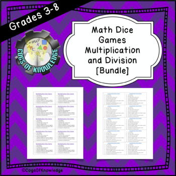 Math Dice Games Multiplication and Division [Bundle]