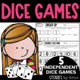 Math Dice Games Pack 1   Printable and Digital