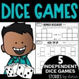Math Dice Games Pack 2   Printable and Digital