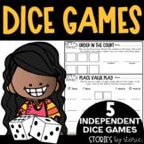 Math Dice Games Pack 3   Printable and Digital
