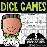 Math Dice Games Pack 4   Printable and Digital