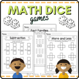 Math Dice Games for Kindergarten and First Grade