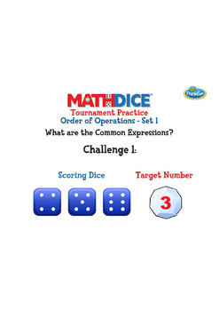 Math Dice Order of Operations Challenge Sets by ThinkFun