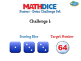 Math Dice Powers Demo Challenge Set Powerpoint Deck by ThinkFun
