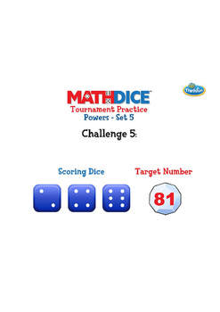Math Dice Powers Practice Challenge Sets by ThinkFun
