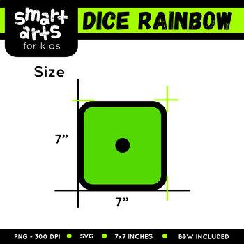 Math Dice Rainbow Clip Art