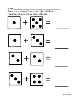 Math Dice Worksheets