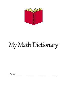 Math Dictionary- Envision Math Grade 5