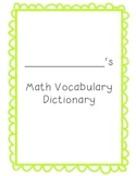 Math Dictionary template