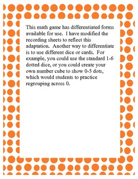 Math Difference Game