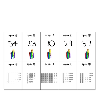 Math Differentiated Addition with Regrouping Grab It! Center