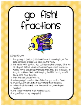 Math Differentiated Fractions Go Fish Center