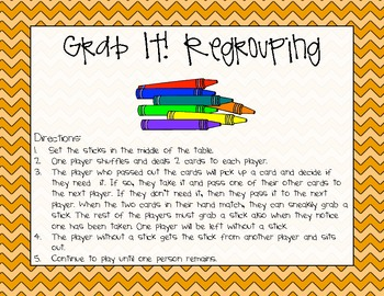 Math - Differentiated Regrouping Grab It!