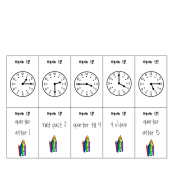 Math Differentiated Time Grab It! Center