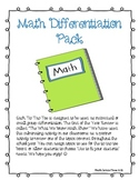 Math Differentiation Tic Tac Toe Pack