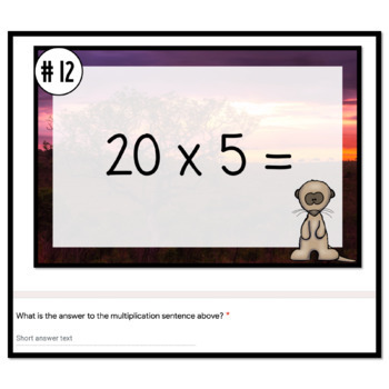 Math Digital Escape Room | 3rd Grade Multiplication