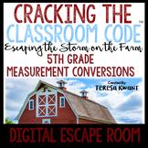 Math Digital Escape Room 5th Grade Measurement Cracking the Classroom Code®