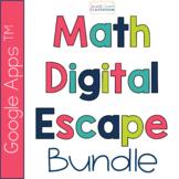 Math Digital Escape Room Bundle