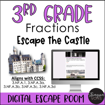 Math Digital Escape Room | Fractions