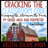 Math Digital Escape Room Grade 3 Area and Perimeter Distance Learning