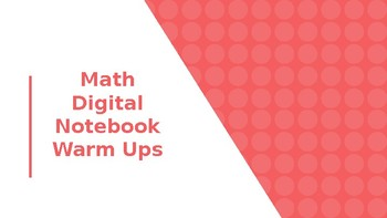 Math Digital Notebook