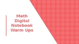 Math Digital Notebook