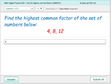 Math Digital Practice 0050 - Highest Common Factor