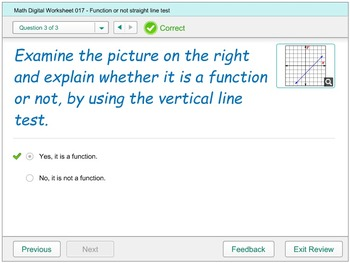 Math Digital Practice 017 - Function or not Vertical Line Test