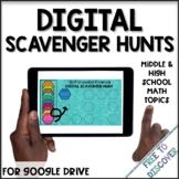 Math Digital Scavenger Hunts for Distance Learning