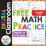 Math Digital Worksheets for Practice and Interventions Gra